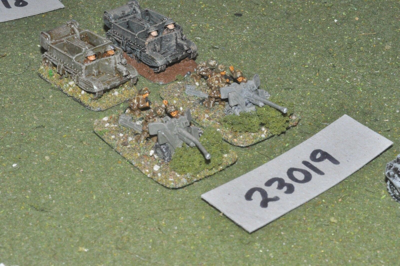 15mm WW2   british - 2 guns & tows - art (23019)