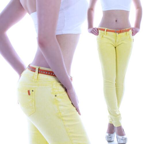 JEANS Donna Pantaloni Jeans A Sigaretta hüftjeans Hüfthose TUBO STRECH strechjeans b90