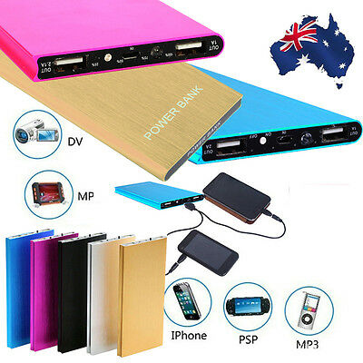 Portable Universal 20000mAh USB External Battery Power Bank Pack Charger Phone