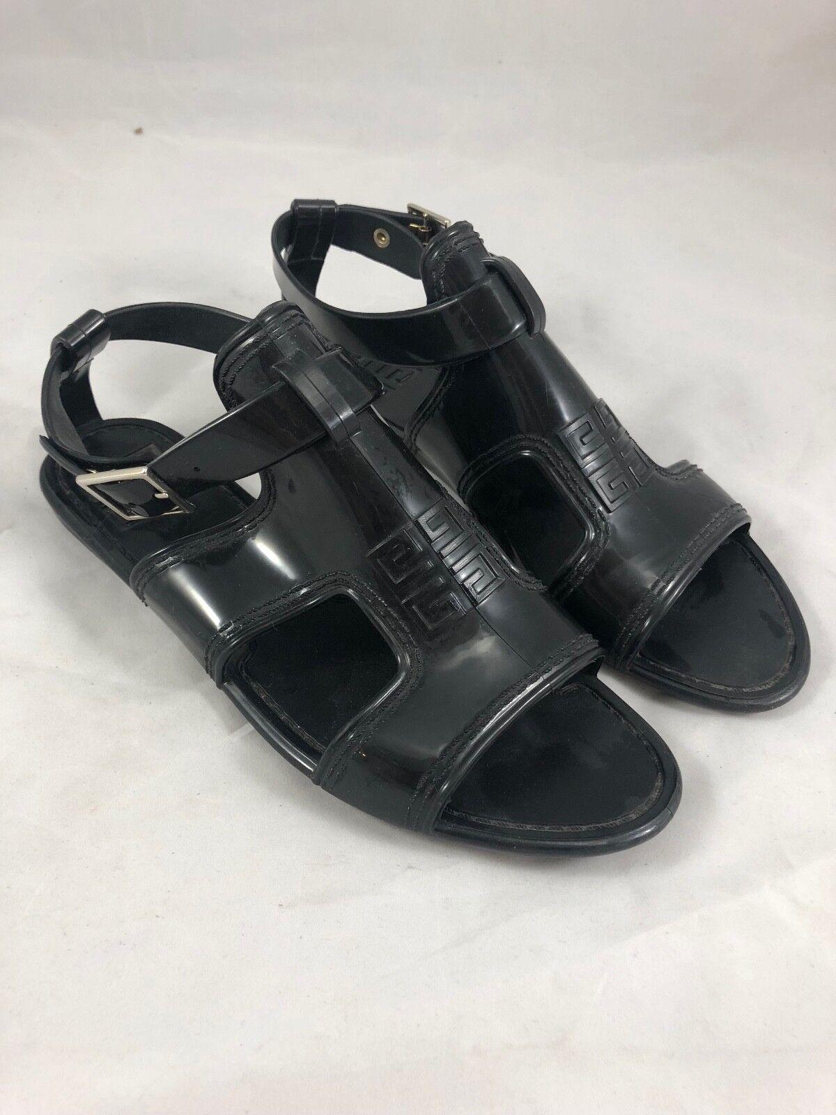 Givenchy y Correa en el tobillo de goma Sandalias en Negro