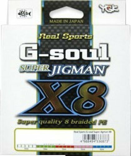 YGK YOZ-AMI G-soul SUPER JIGMAN X8 60Lbs 300m 8 Braid PE Line from Japan New