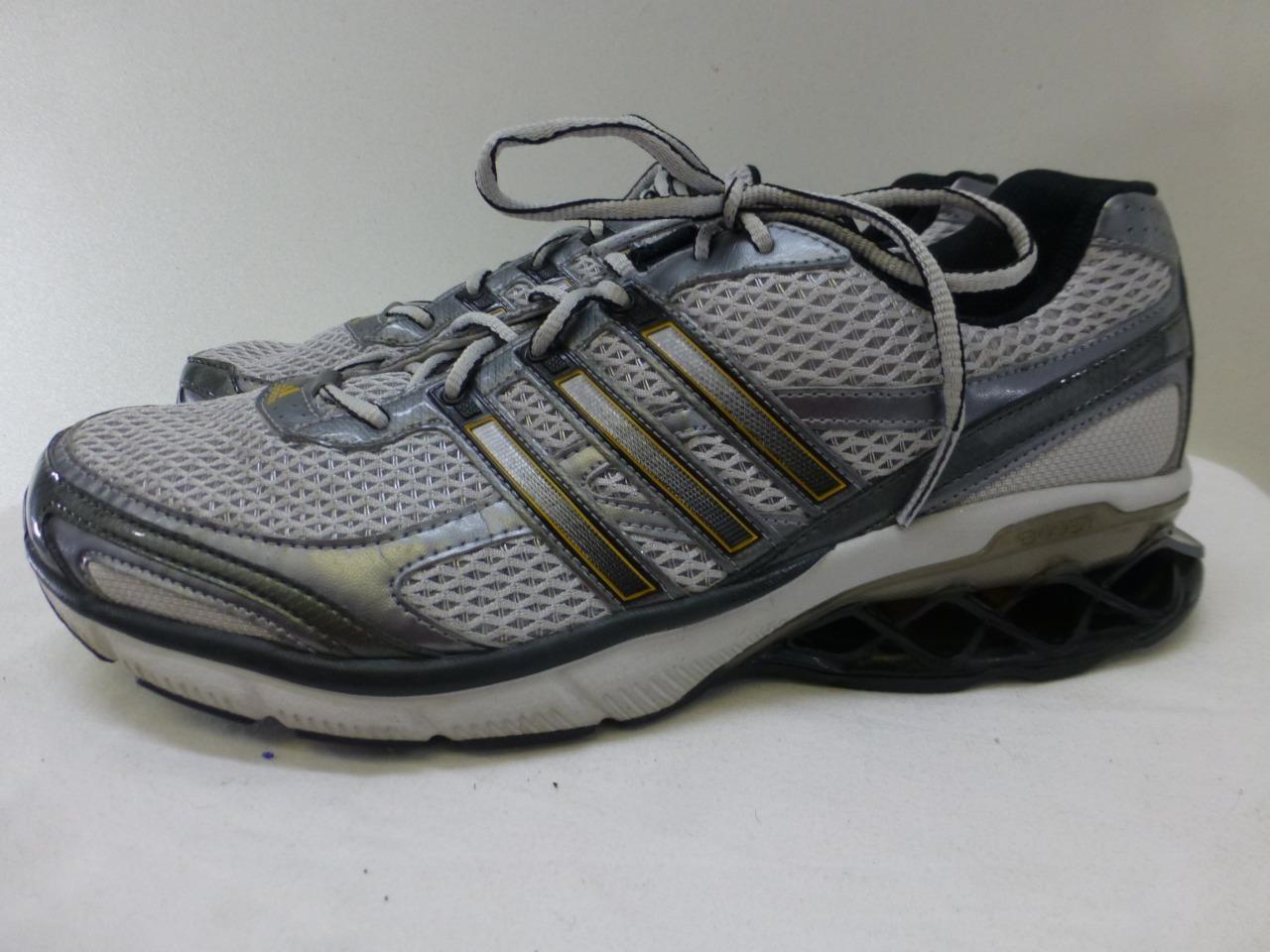 Adidas Boost gris Athletic 3 Stripes pista pista pista de Atletismo Zapatillas Sneakers Hombre 11,5 46 nuevos zapatos para hombres y mujeres, el limitado tiempo de descuento b5d9fe