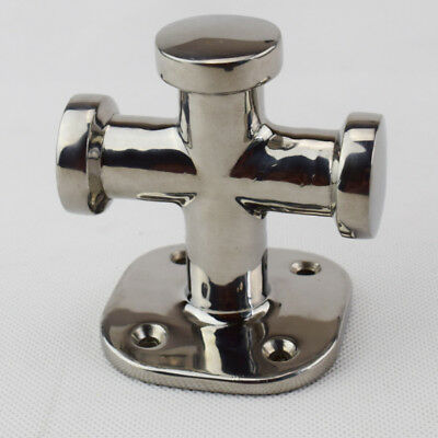 316 Stainless Steel Single Cross Bollard Fitting Cleat Heavy Duty Polished Value