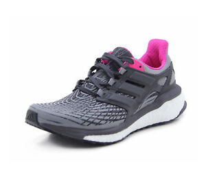 timeless design 7dff8 92f10 Image is loading NEW-Adidas-Energy-Boost-W-Grey-Black-Pink-