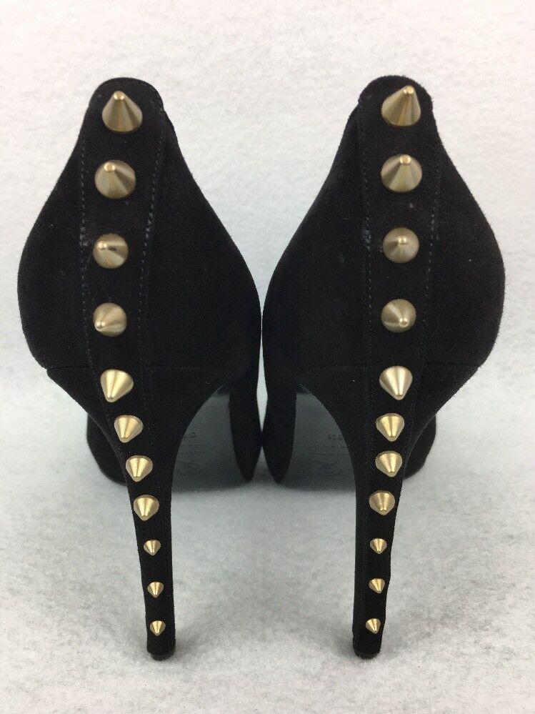 Alexander McQueen Women's Heels Size 38.5 Size 8.5 Open Toe Black Studded