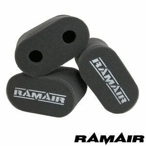 3 X Ramair Foam Carb Trumpet Socks Air Filter Fits Weber