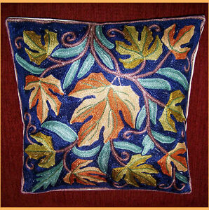CHAIN-STITCH-ARI-WORK-HAND-CRAFTED-PILLOW-CUSHION-COVER-FROM-KASHAMIR-INDIA
