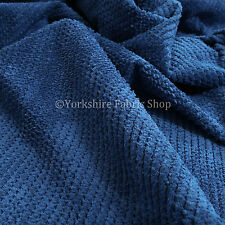 Plain Blue New Soft Texture Plush Corduroy Quality Durable Upholstery Fabric