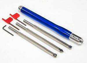 Carbide Wood Lathe Turning Tools Rougher Finisher Detailer PLUS Colored Handle