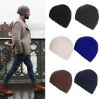 Women Men Warm Winter Striped Knitted Hat Baggy Beanie Hip-hop Sports Cotton Cap