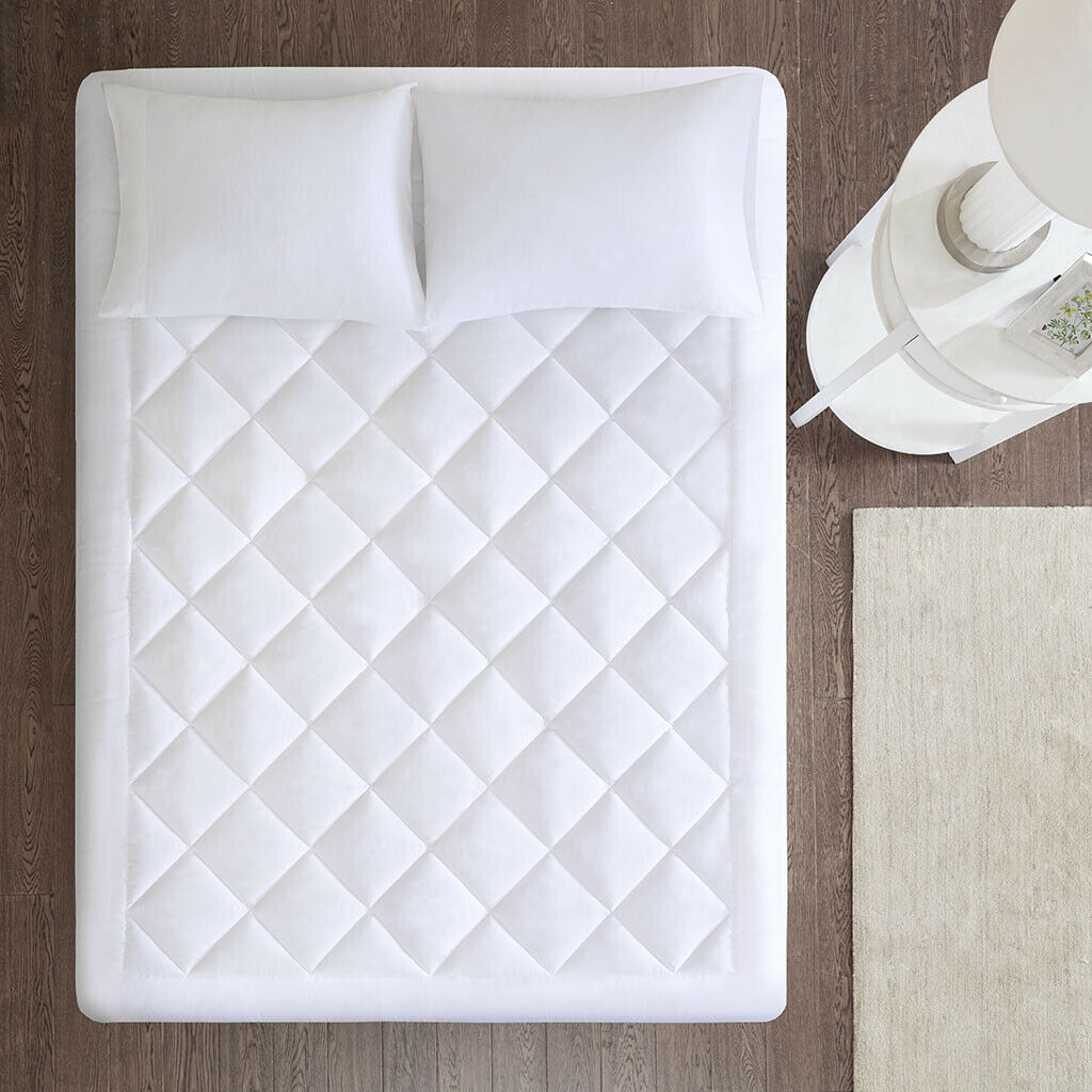 WATERPROOF COMFORT DEEP MATTRESS PAD TOPPER 3M STAIN RESISTANT BAFFLE PROTECTOR