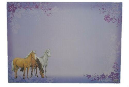 """- /"""" Pferd // Pferde /"""" Traumpfe Unterlage Schreibtischunterlage Papier 15 tlg"""
