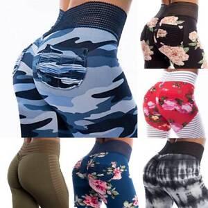 Women-PUSH-UP-Yoga-Leggings-Fitness-High-Waist-Sports-Gym-Running-Pants-Trousers