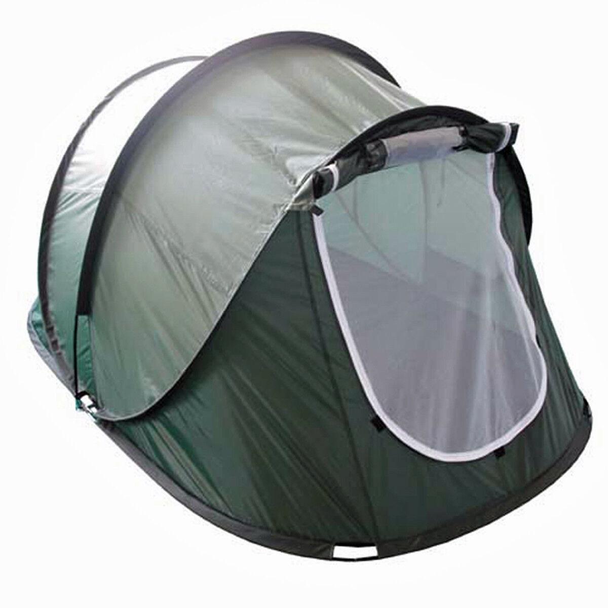 MFH 2 Personen Wurfzelt Camping Zweimannzelt oliv Pop-up Tent 220 x 145 x 110 cm
