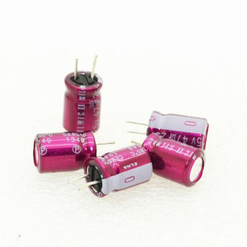 5pcs ELNA SILMIC II 47uF//25V Audio Electrolytic Capacitor-6006