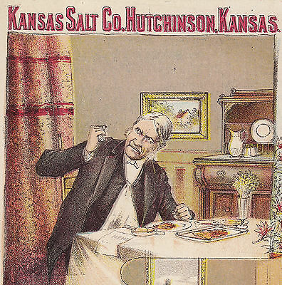 Kansas Salt Co Hutchinson KS Before After R.S.V.P. Table Advertising Trade Card