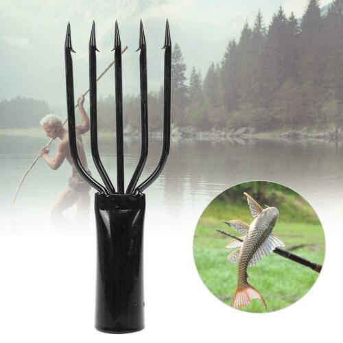 3//4//5 Prong Tine Barbed Stainless Steel Fishing Fork Spear Gaff Hunting Gig New