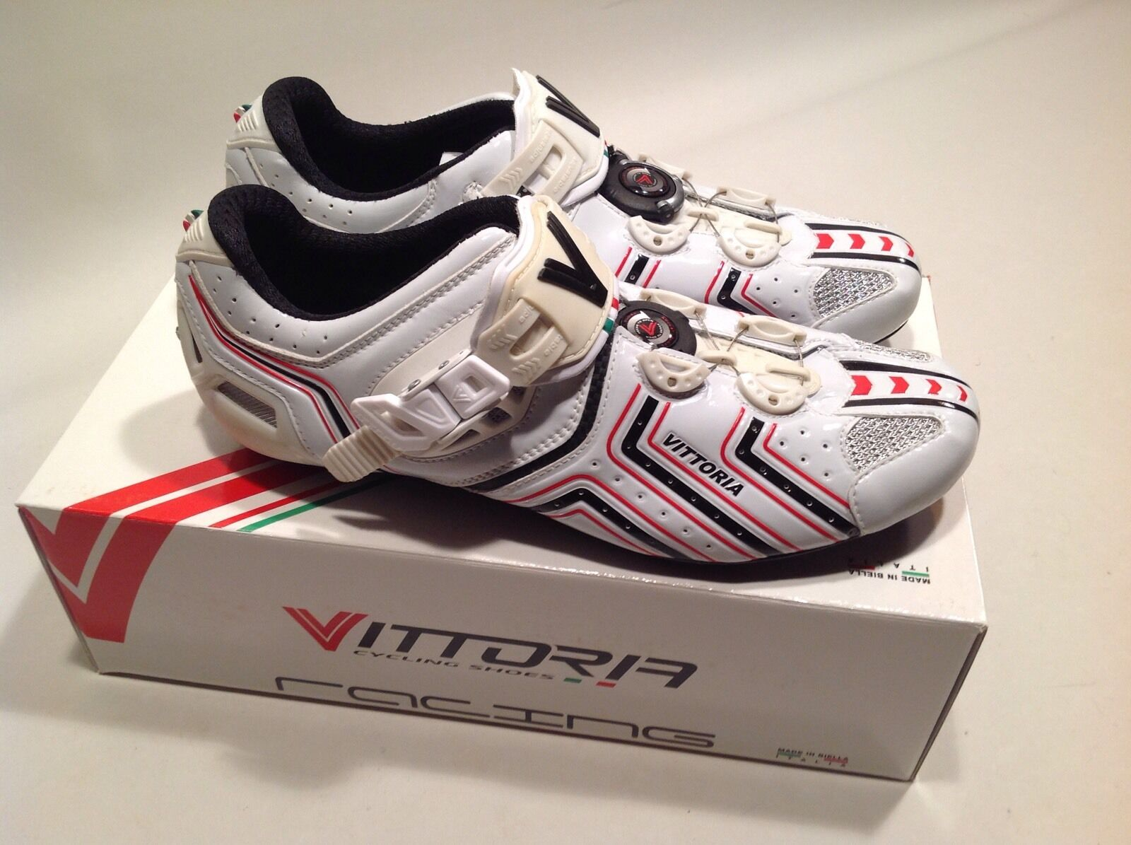 Vittoria Hora Road Cycling shoes 41 Eu 8.5 US micrometric cable closure white