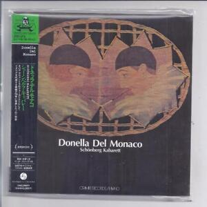 Donella Del Monaco Schonberg Cabaret Japon MINI LP CD CRAMPS Opus Avantra New