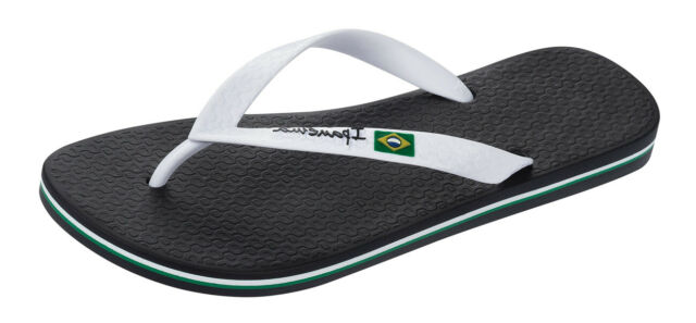 Ipanema Flag Ii Mens Flip Flops Beach Pool Sandals Plain Black White  Ebay-3542