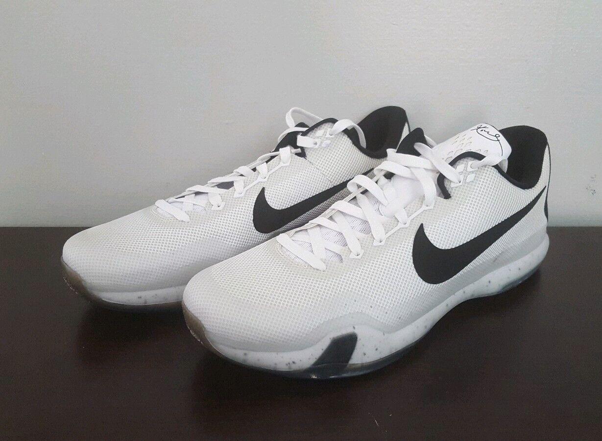 Men's Nike Kobe TB 10 X TB Kobe Meteorology White Basketball Sneakers Size 18 813030-101 6deb62