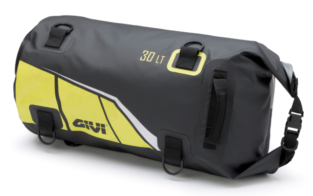 36f1f225871 GIVI Ea114by Waterproof Cylinder Seat or Rack Roll Bag Black Yellow Soft  Luggage for sale online