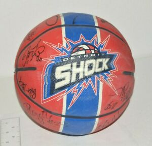 Detroit-Shock-WNBA-Autographed-Basketball-Signed-Spalding-12-Players-Signed