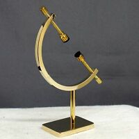Gold Plated Caliper Stand Fossil Specimen Mineral Display Au5