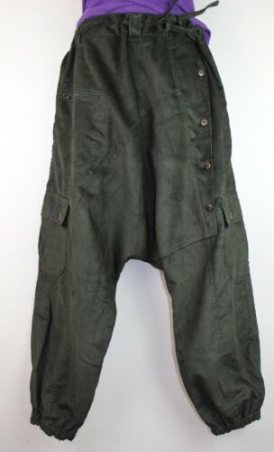 Trousers Cuff Corduroy Jeans Retro Baggy Hippy Harem Boho Pant Aladdin Casual P1