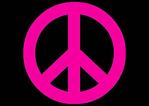 peace sign 70 s window decal pink vinyl sticker 6x6 ebay