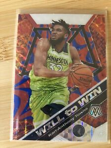 2019-20-NBA-Panini-Mosaic-Karl-Anthony-Towns-Will-To-Win-Prizm-99-Quick-Ship