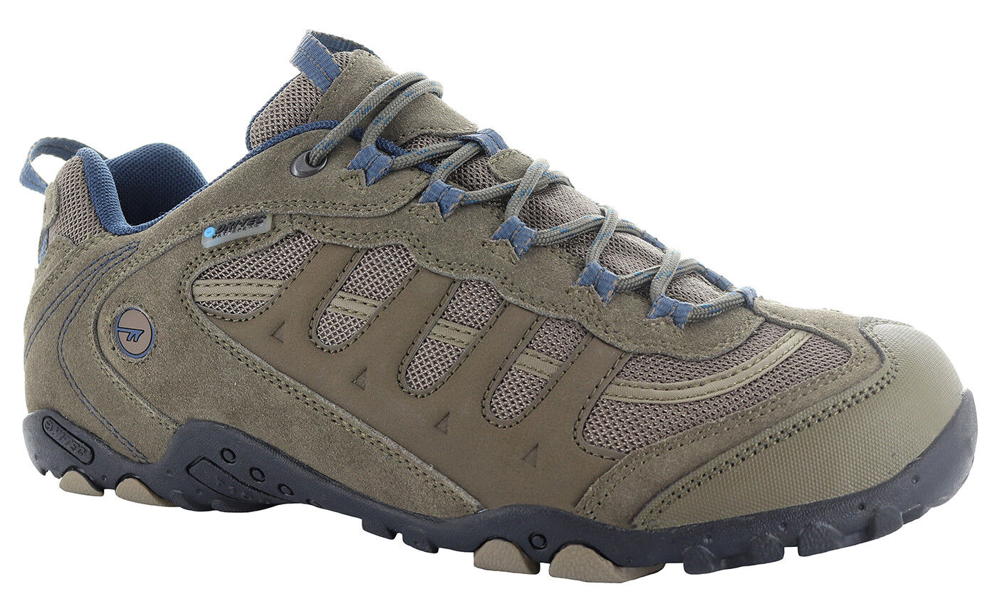 MENS HI-TEC PENRITH LOW WATERPROOF HIKING SHOES TRAINERS SMOKEY BROWN TAUPE
