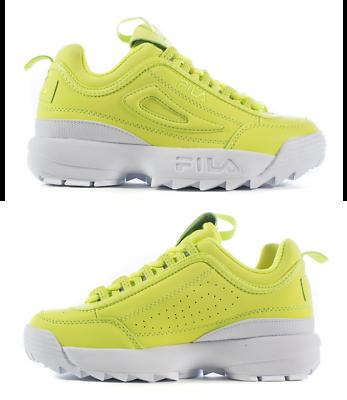 Fila Disruptor II (paquete de primavera) Zapatos De Plataforma Cambio Amarillo para Mujer Talla 8.5 nuevo </p>                     </div> <!--bof Product URL --> <!--eof Product URL --> <!--bof Quantity Discounts table --> <!--eof Quantity Discounts table --> </div> </dd> <dt class=