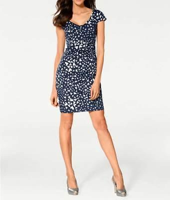 Ashley Brooke Damen Designer-Optimizer-Kleid marine-weiß