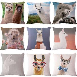 Am-Llama-Alpaca-Linen-Throw-Pillow-Case-Cushion-Cover-Sofa-Bed-Office-Decor-Nov