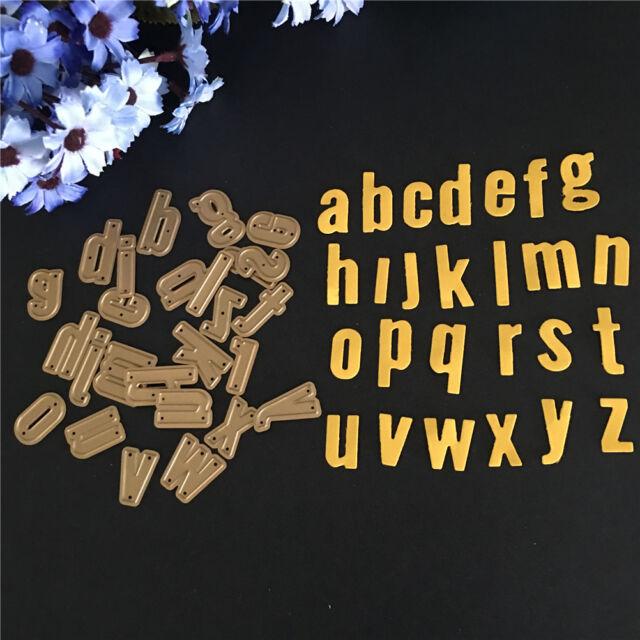 excellent 26pcs metal steel alphabet letter a z cutting dies stencils craft