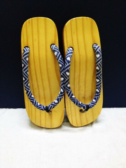 Women's Clogs Japanese Geta Wooden Flip Flops Sandals Slippers Shoes Handmade