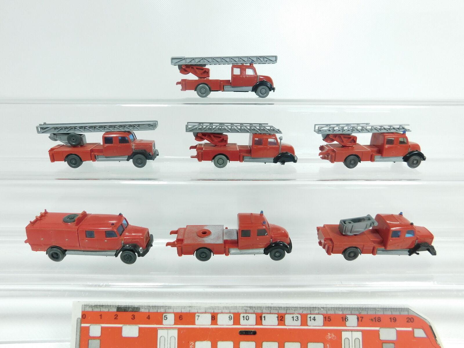 Aw460-0,5   7 x wiking h0   87 bastler modelle magirus   feuerwehr 610 + 620
