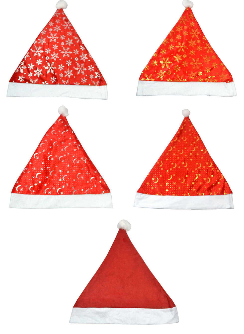 10er/set nikolausmütze gorro navideño gorra navidad adornos