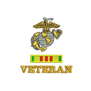 USMC-Vietnam-Veteran-with-Service-Ribbon-Army-Military-Embroidered-Polo-Shirt