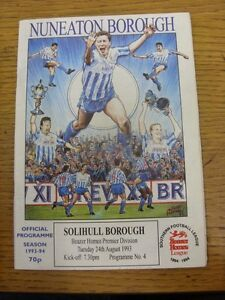 24-08-1993-Nuneaton-Borough-v-Solihull-Borough-Light-Rusty-Staples-Footy-Pro