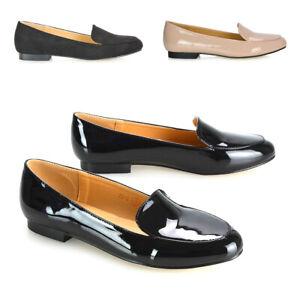 Mujer-Tacon-Bajo-Mocasines-Damas-Slip-On-Mocasines-Bombas-Zapatos-De-Trabajo-De-Oficina-Escuela