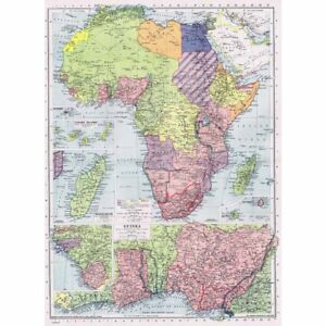 Africa Nations Map.Details About Africa Political Boundaries Administered By League Of Nations Vintage Map 1945