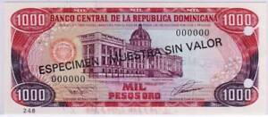 Dominican-Republic-1993-Matched-Set-248-of-5-100-1000-Peso-SPECIMENS