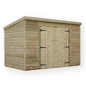 Garden Shed Pressure Treated Tongue And