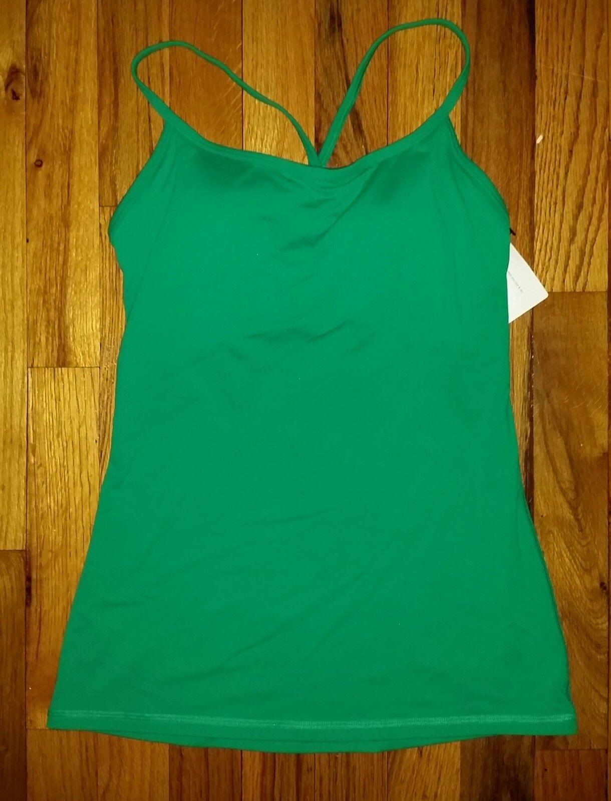 Victoria's Secret VSX Padded Green Top XS - NWT