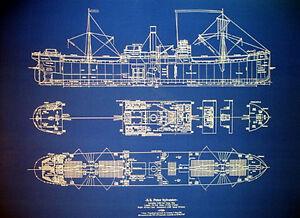 Ships plan ww2 cargo ship blueprint vessel sunk by german u boat 24 image is loading ships plan ww2 cargo ship blueprint vessel sunk malvernweather Choice Image