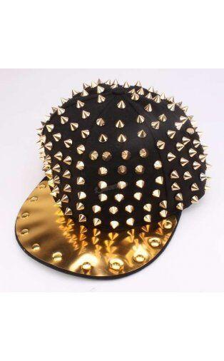 HIP HOP PUNK CAP SPIKES SPIKY STUDDED SNAPBACK HATS CAPS ~USA Seller~