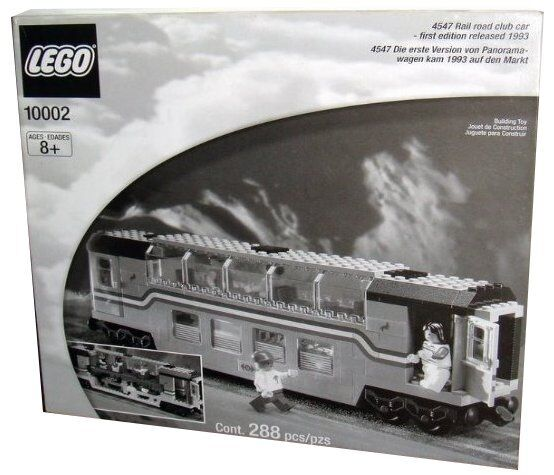 Lego 9V Train Legends 10002 / 4547 Railroad Club Car New SEALED