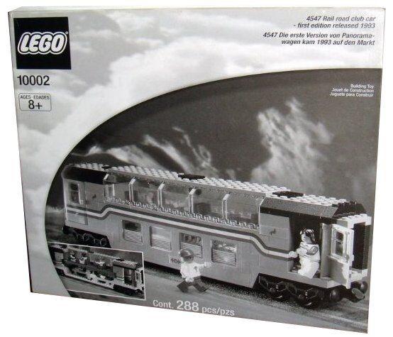 Lego 9V Train Legends 10002 10002 10002 / 4547 Railroad Club Car New SEALED daad21